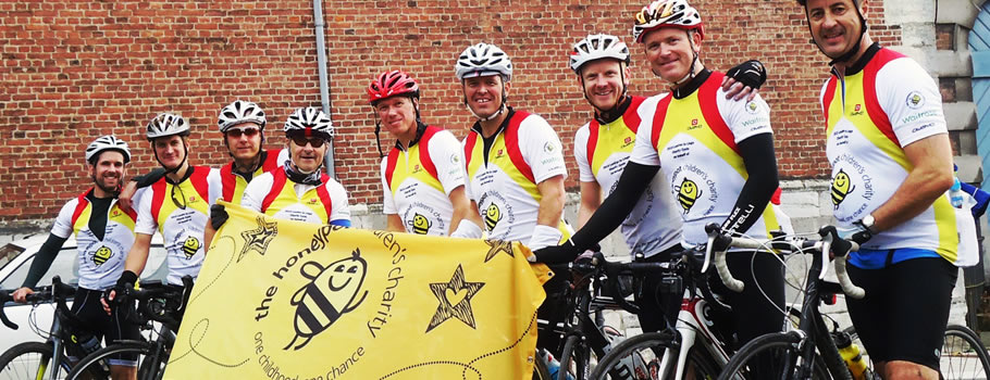 John Lewis London to Liege Cycle Ride Raises £22,000 for HoneyPot Children's Charity